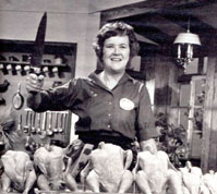 Photo of Julia Child on PBS TV show